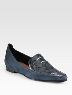 Derek Lam - Raena Snakeskin & Suede Loafers