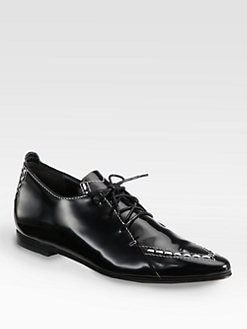 Derek Lam - Romia Leather Lace-Up Oxfords