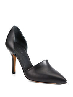 Vince - Claire Choked Up Leather d'Orsay Pumps