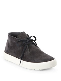 Vince - Chelsea Lace-Up Suede Sneakers