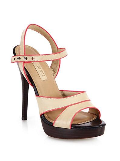 Strappy Leather Platform Sandals