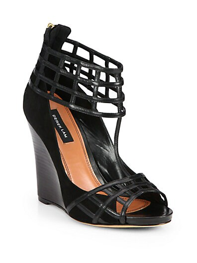 Beryl Leather Wedge Sandals