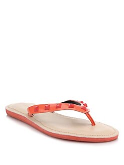 Rebecca Minkoff - Fiona Studded Leather Flip Flops