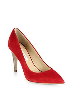 Diane von Furstenberg - Anette Suede & Metallic Leather Pumps