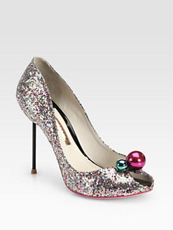 Sophia Webster - Loren Bauble-Detail Glitter Pumps