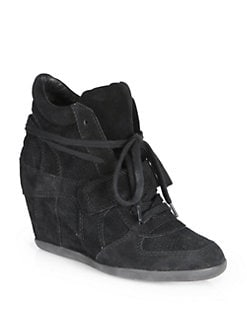 Ash - Bowie Suede Wedge Sneakers