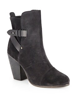 Rag & Bone - Kinsey Suede & Leather Ankle Boots