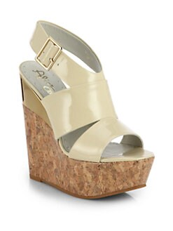Alice + Olivia - Shayla Patent Wedge Sandals