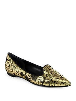 Belle by Sigerson Morrison - Sadie Metallic Brocade Smoking Slippers