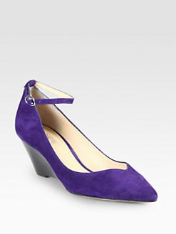 Belle by Sigerson Morrison - Waverly Suede Wedge Pumps