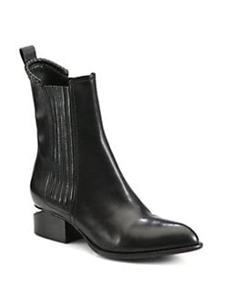 Alexander Wang - Anouck Leather Ankle Boots