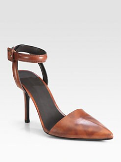 Alexander Wang - Lovisa Leopard-Print Leather Ankle Strap Pumps