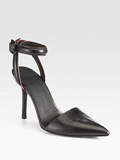 Alexander Wang - Lovisa Two-Tone Leather Ankle Strap Pumps