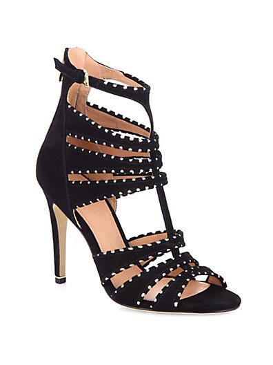 Melaina Suede  Metallic Leather Sandals