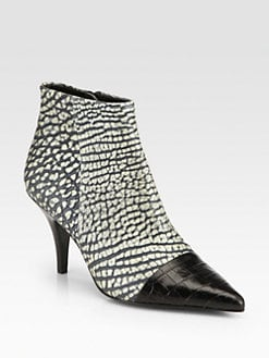 3.1 Phillip Lim - Maggie Embossed Leather Ankle Boots