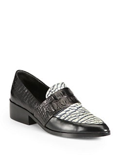 3.1 Phillip Lim - Quinn Mixed Media Loafers