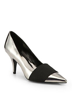 3.1 Phillip Lim - Dove Metallic Leather Pumps
