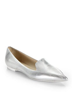 3.1 Phillip Lim - Page Brushed Metallic Leather Loafers