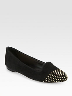 Loeffler Randall - Mo Studded Suede Smoking Slippers