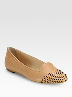 Loeffler Randall - Mo Studded Leather Smoking Slippers