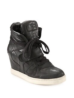 Ash - Leather Wedge Sneakers
