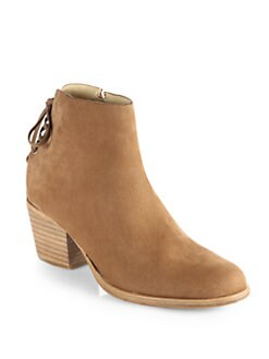 Rag & Bone - Bannon Nubuck Leather Lace-Up Ankle Boots