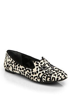 Marc by Marc Jacobs - Friends of Mine Pony Hair Mouse Smoking Slippers