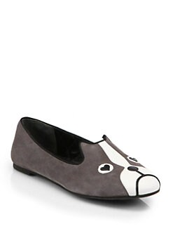 Marc by Marc Jacobs - Friends of Mine Dog Suede Smoking Slippers