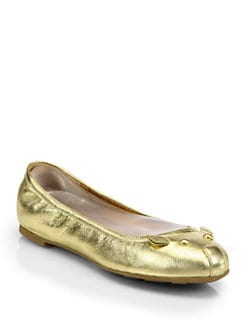 Marc by Marc Jacobs - Mouse Metallic Leather Ballet Flats