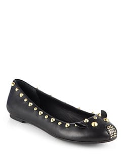 Marc by Marc Jacobs - Studded Leather Mouse Ballet Flats