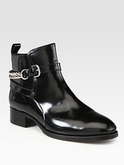 McQ Alexander McQueen - Leather Chain Ankle Boots