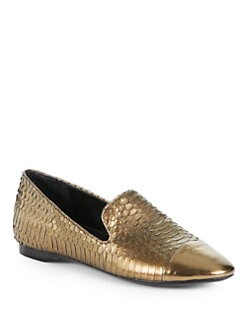 Boutique 9 - Yassuo Metallic Snakeskin Smoking Slippers