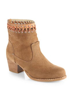 Rag & Bone - Mercer Macrame Nubuck Leather Ankle Boots