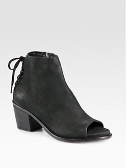 Rag & Bone - Bannon Open-Toe Leather Ankle Boots