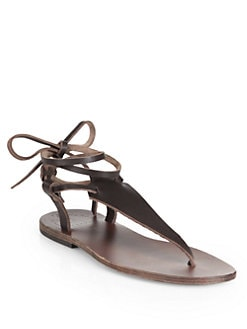 Ishvara - Terrassa Tie-Up Leather Sandals