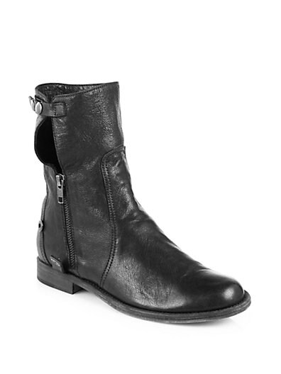 Strike Leather Fold-Over Motorcycle Boots