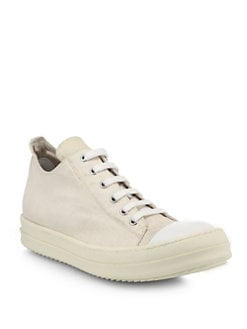Rick Owens DRKSHDW - Ramones Canvas Low-Top Sneakers
