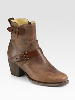Rag & Bone - Harper Leather Moto Ankle Boots