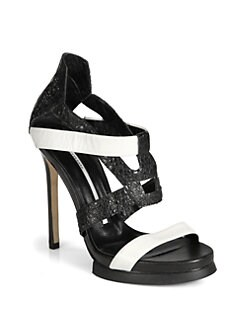 Camilla Skovgaard - Bicolor Leather Platform Sandals