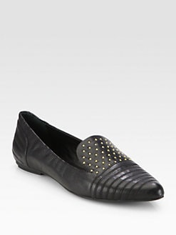 Rebecca Minkoff - Iva Too Studded Leather Smoking Slippers
