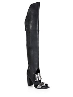3.1 Phillip Lim - Ora Leather Over-The-Knee Sandal Boots