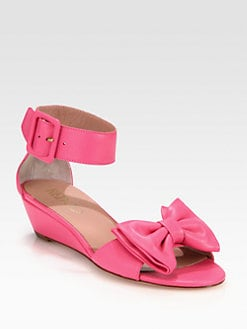 RED Valentino - Leather Bow Sandals