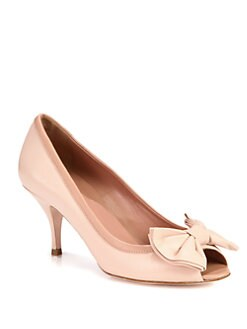 RED Valentino - Leather Bow Pumps