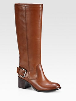 Boutique 9 - Biondello Leather Buckle Knee-High Boots