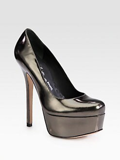 Alice + Olivia - Larimore Metallic Leather Platform Pumps
