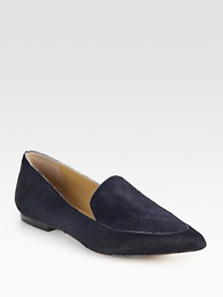 3.1 Phillip Lim - Spade Calf Hair Smoking Slippers