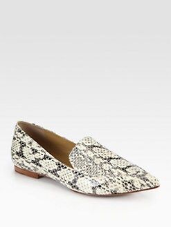 3.1 Phillip Lim - Spade Snakeskin Smoking Slippers