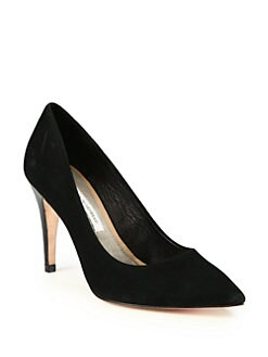 Diane von Furstenberg - Annette Suede and Patent Leather Pumps