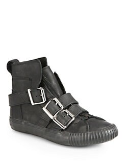 3.1 Phillip Lim - Lyon Leather Buckle Sneakers