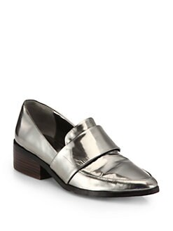 3.1 Phillip Lim - Quinn Metallic Leather Loafers